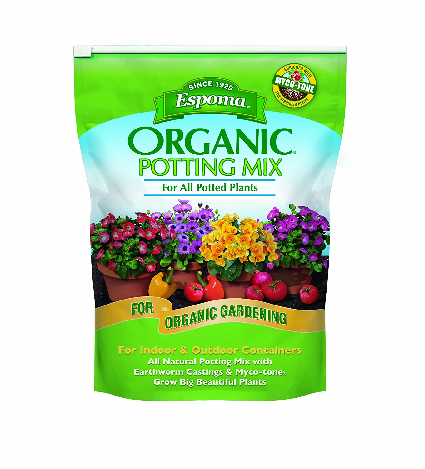 best potting soil for tomatoes - Espoma AP8 8-Quart Organic Potting Mix
