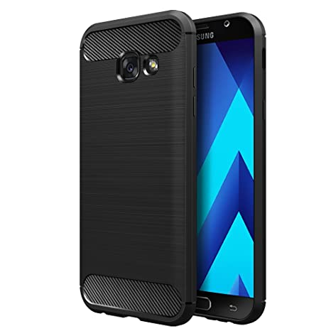 Simpeak Funda Compatible Samsung Galaxy A5 2017 5.2, Negro TPU Samsung Galaxy A5 Carcasa Funda Suave Flexible Piel Resistente a los Arañazos ...