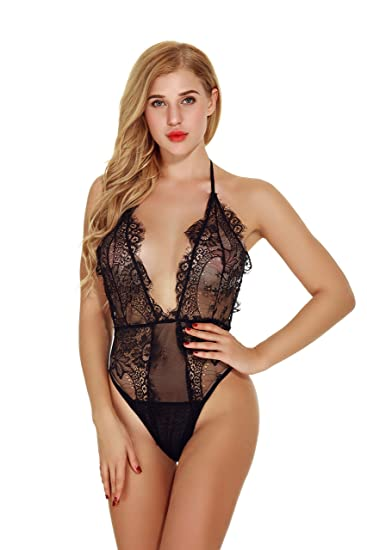 Barelove Women Valentines Babydoll One Piece Lingerie Corset Set for  Night(S 2aa88462d8