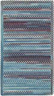 "product image for Capel Rugs Kill Devil Hill Cross Sewn Rectangle Braided Area Rug, 2 x 4"", Blue"