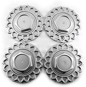 Set of 4 168mm(6.61in)/109mm(4.29in) Wheel Hub Center Caps Matt Silver for #247L169 135S17 BBS RS Style 5 Wheel Rims
