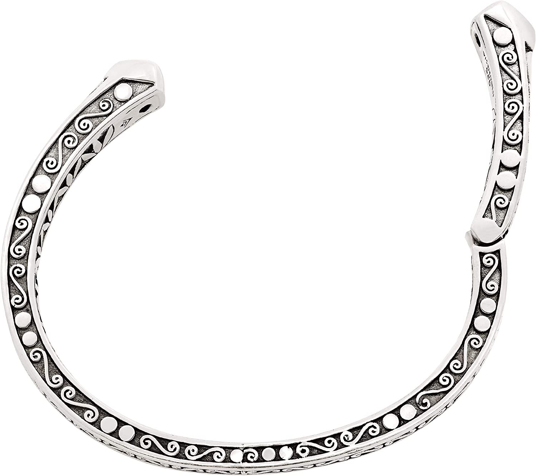 Silpada Green Goddess 1 1//5 ct Natural Peridot Hinged Filigree Cuff Bracelet in Sterling Silver