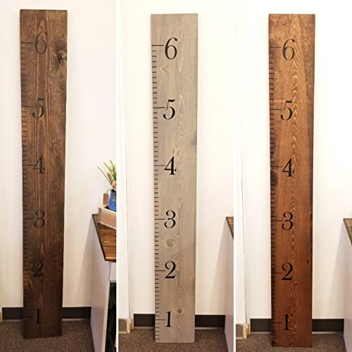 Amazon 6 Growth Chart Wood Ruler Height Chart Childs Room