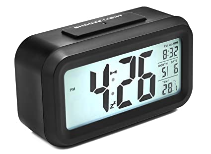 Digital Alarm Clock, Arespark Smart Simple And Silent Bedroom Alarm Clock  With Date And Temperature