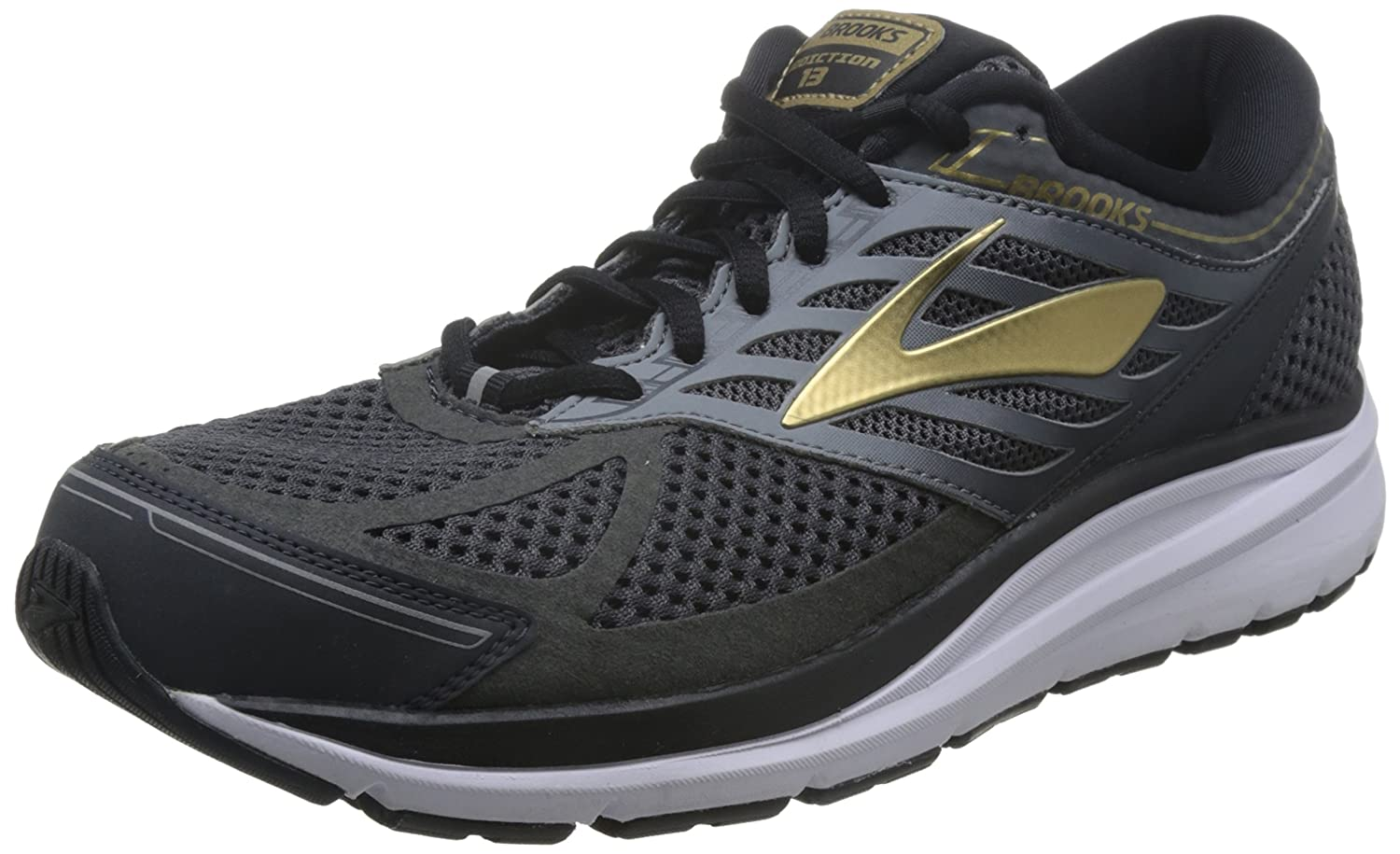 Brooks Mens Addiction 13 B01MRHZM7Y 15 EE US|Black/Ebony/Metallic Gold