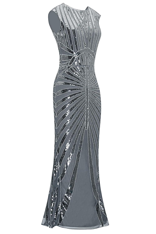 Amazon.com: Metme Formal Evening Dress 1920s Sequin Mermaid Formal ...