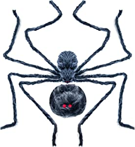 """Halloween 90"""" Giant Spider decorations, Best Halloween Prop Decorations, Halloween Indoor, Outdoor, Yard and Lawn Decor"""
