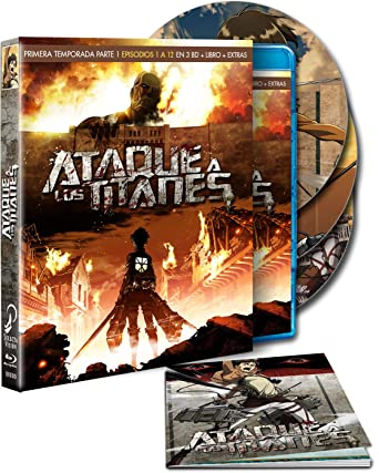 Ataque A Los Titanes - Temporada 1, Parte 1, Episodios 1-12 Blu-ray: Amazon.es: Animación, Tetsurô Araki, Animación: Cine y Series TV