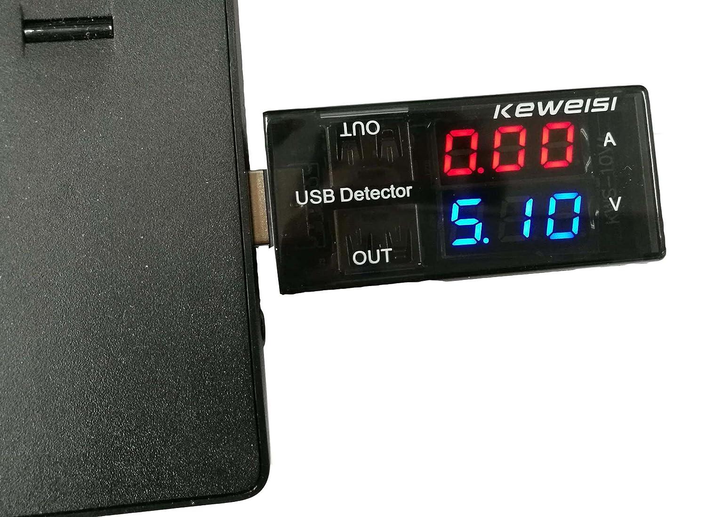 5A/9V LED Display Multi Tester Doble Salida USB Detector de Corriente para Teléfono Cargador Power Bank: Amazon.es: Bricolaje y herramientas
