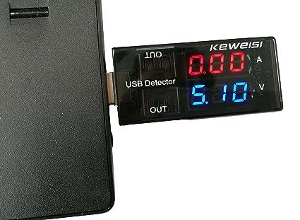 5A/9V LED Display Multi Tester Doble Salida USB Detector de Corriente para Teléfono Cargador