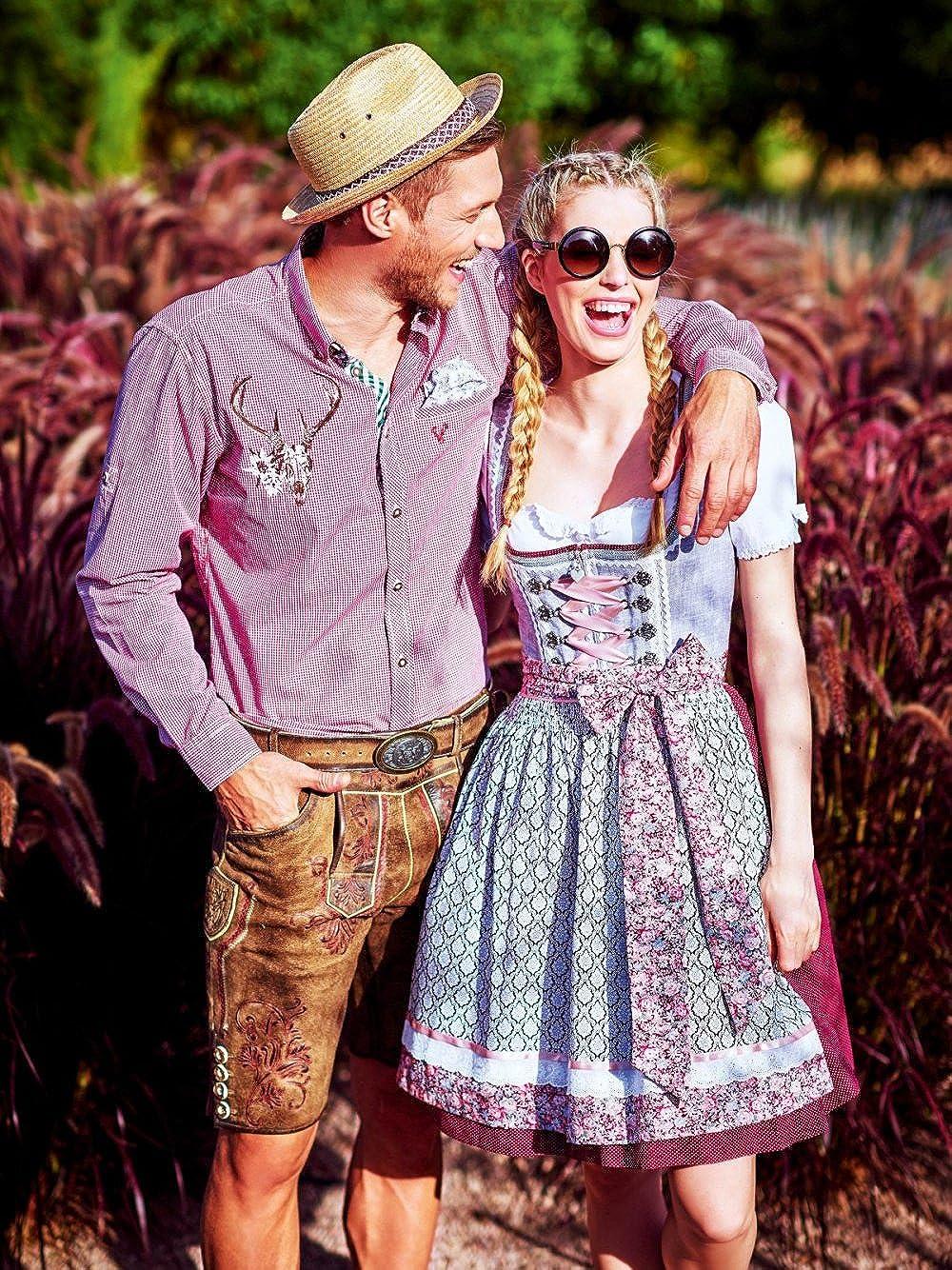 Krüger MADL Dirndl Fashion Queen Queen Queen 60er Länge grau rot B078Y7MX3Q Dirndl Ausgezeichnete Funktion f2f1f0