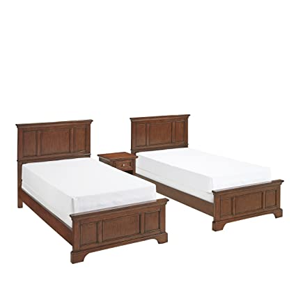 Amazon Com Home Styles 5529 4024 Chesapeake Two Twin Beds And Night