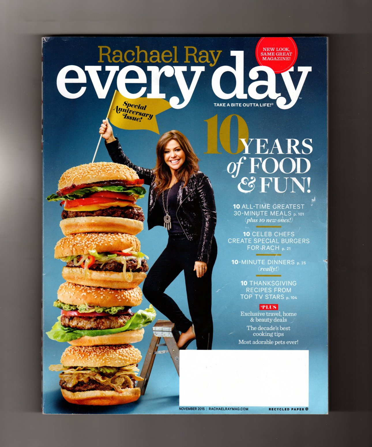 Download Rachael Ray - Every Day. November, 2015. Special Tenth Anniversary Issue. 10 Burgers by Celebrity Chefs; TV Stars' Thanksgiving Recipes; 30-Minute Party Meals pdf epub