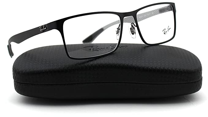 fbea40ac23 Image Unavailable. Image not available for. Colour  Ray-Ban RX8415 2503  Eyeglasses Carbon Fibre Matte Black Frame 55mm