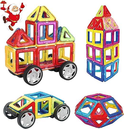 Loori 100 PCS Construction Jouets, Magnétique Bloc de Construction avec Lettre en Plastique et Nombre, Jouet Educatif et Créatif pour Les Enfants de