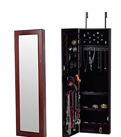 Amazoncom BTEXPERT HandMade Wooden Jewelry Armoire Cabinet Wall