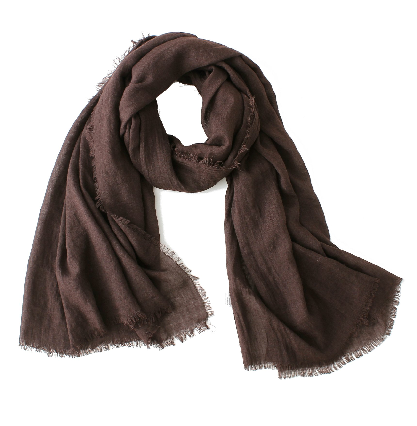 Cotton Scarf Shawl Wrap Soft Lightweight Scarves And Wraps For Men And Women. (Coffee)