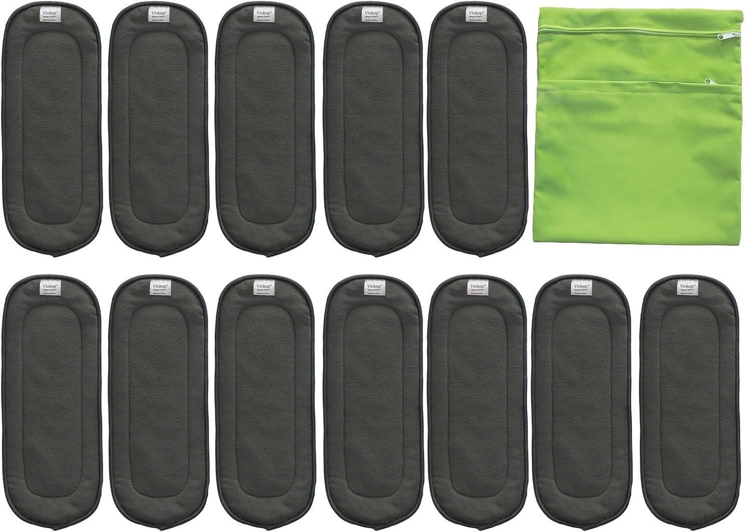 5 Pcs//Set Reusable 4 Layers Bamboo Charcoal Soft Baby Cloth Nappy MI