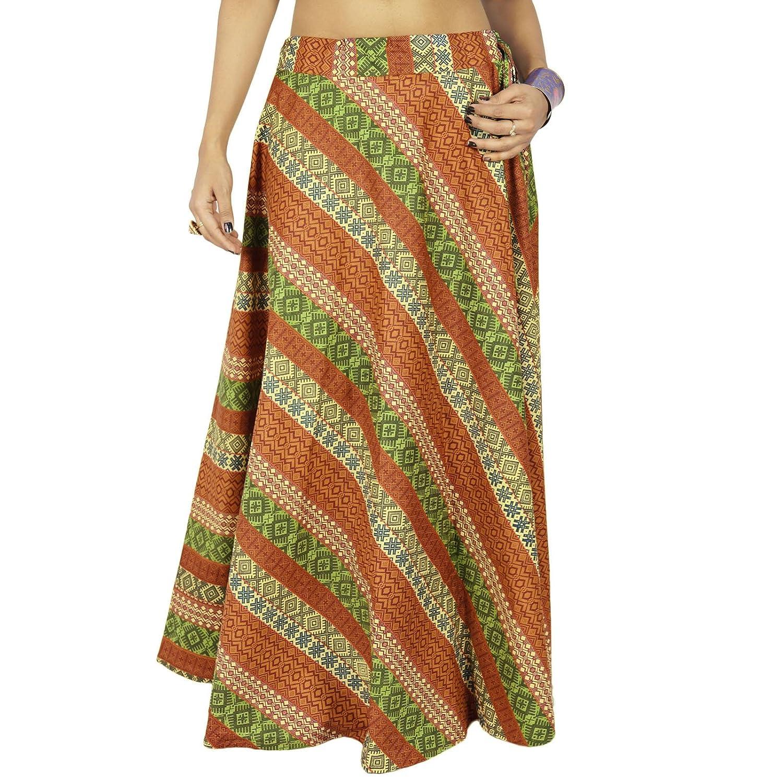 Mode gedruckten indischen Baumwollfrauen Boho Strand-Abnutzung Hippierock