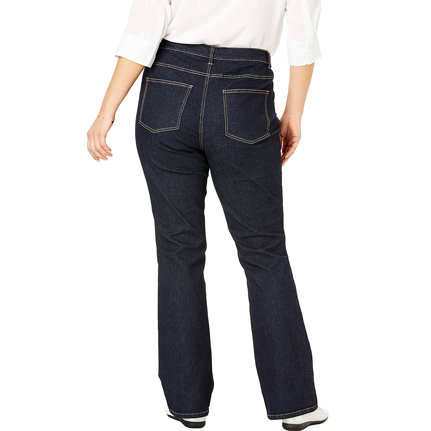 571e19e1800 Woman Within Women s Plus Size Bootcut Stretch Jean at Amazon Women s Jeans  store