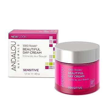 Andalou Naturals, 1000 Roses Beautiful Day Cream, Sensitive, 1.7 oz(pack of 2) Freeman Feeling Beautiful Pore Cleansing Mask, Sparkling Pear 5 oz (Pack of 3)