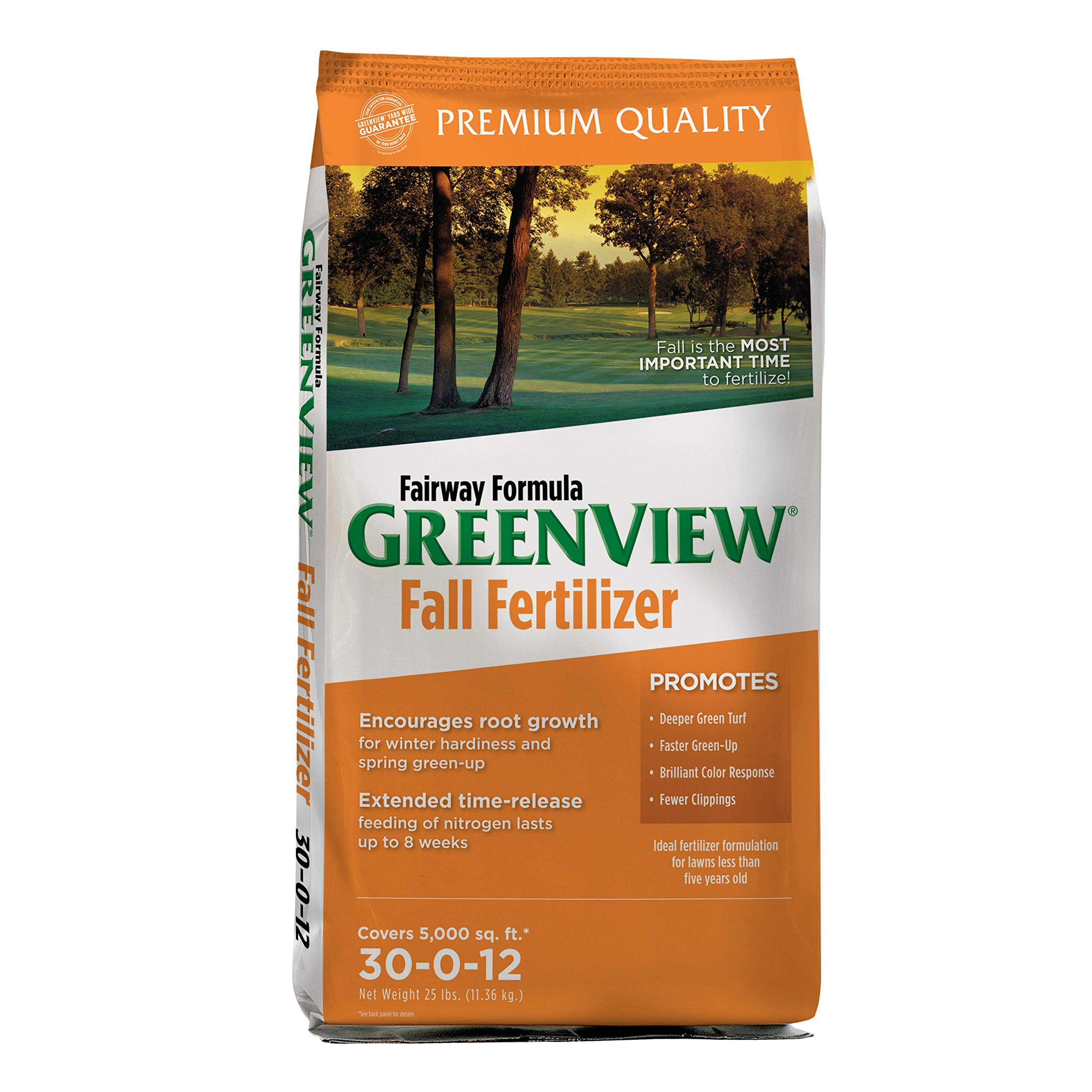 GreenView Fairway Formula Fall Lawn Fertilizer - 25 lb. - Covers 5,000 sq. ft by GreenView