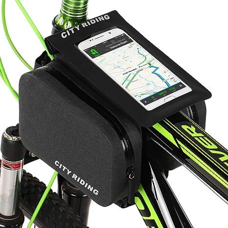 Lixada Bolsa de Tubo Superior de Bicicleta de Ciclismo MTB a ...