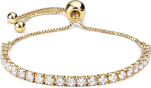 Charm Crystal Bracelets for Women Ladies Shiny Inlaid Zircon Bangle Valentines Day Wedding Bridal Jewelry Gift