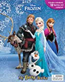 DISNEY FROZEN MY BUSY BOOKS / ACTIVITY KIT / PLAY SET - Includes a Disney Frozen Storybook / Boardbook   12 figurines   a huge playmat * 2014 Edition * (Age: 3+)