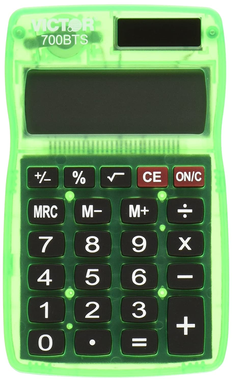Victor 700BTS Pocket Calculator, Assorted Colors (Red, Green, or Blue) Victor Technology VCT700BTS Desk Accessories
