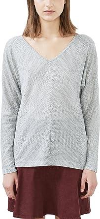 edc by ESPRIT 126CC1K051, Camisa Manga Larga Mujer, Gris (PASTEL GREY 5), 40 (Talla del fabricante: Large): Amazon.es: Ropa y accesorios