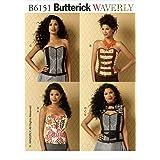Butterick Patterns 6151 A5 Sizes 6 - 8 - 10 - 12 - 14 Misses Corsets Vest and Belt