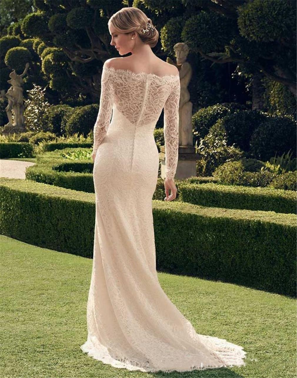 HAPPYMOOD Hochzeitskleid Einzigartiges Design Durchsichtig Zurück ...