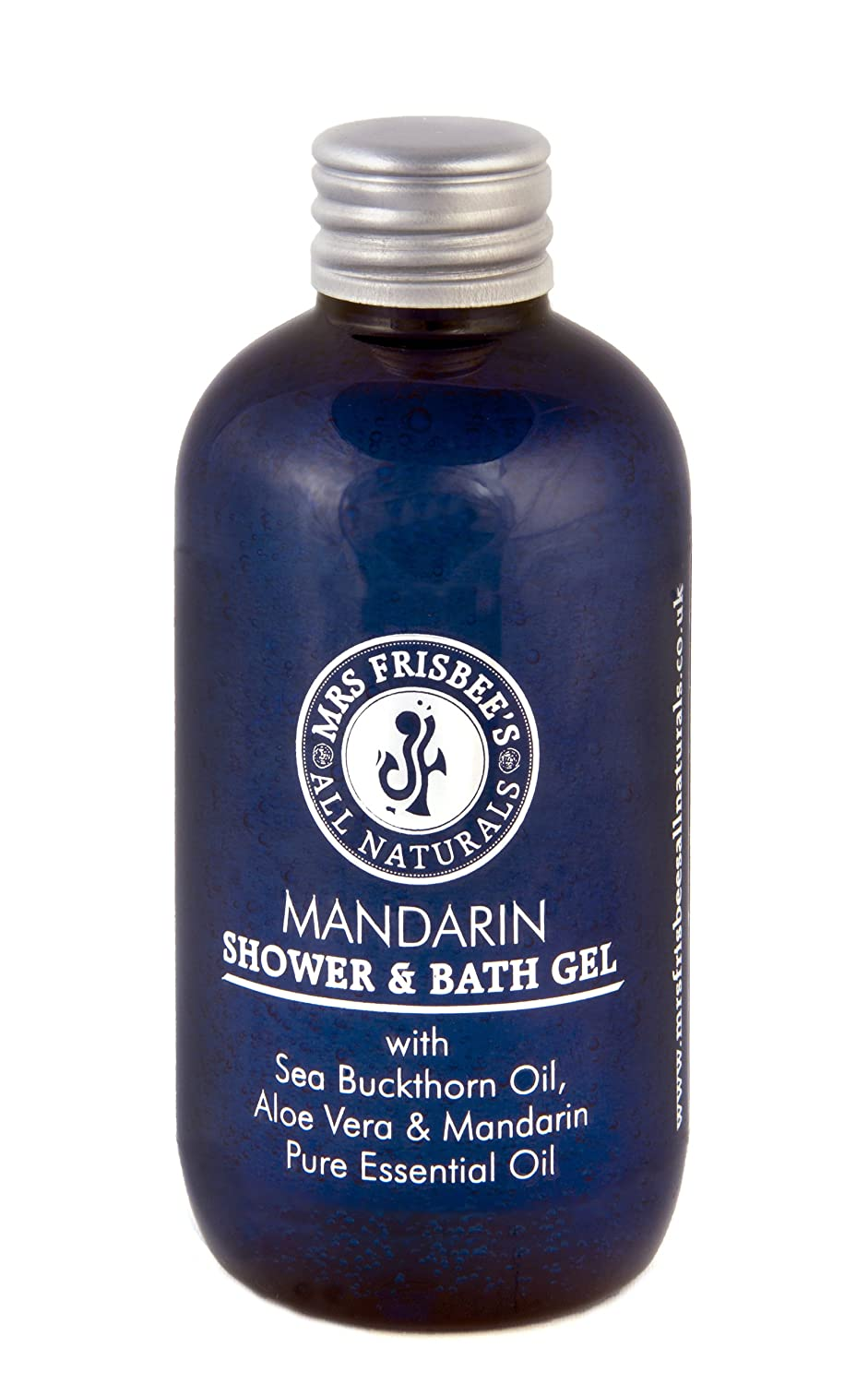 Mrs Frisbee's All Naturals Mandarin Shower Gel With Sea Buckthorn Oil and Aloe Vera 0700621914402