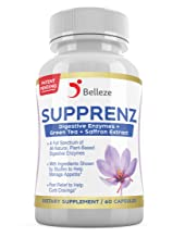 Digestive Enzymes + Appetite Suppressants. Broad Spectrum Plant Based Enzymes + Saffron and Green Tea Extracts. Made in USA. Patent Pending Supprenz