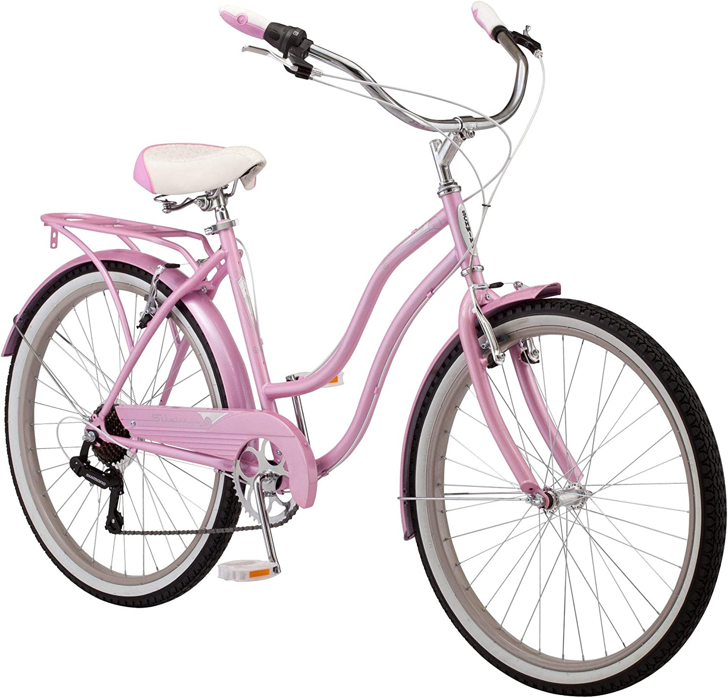 pink womens cruiser bike