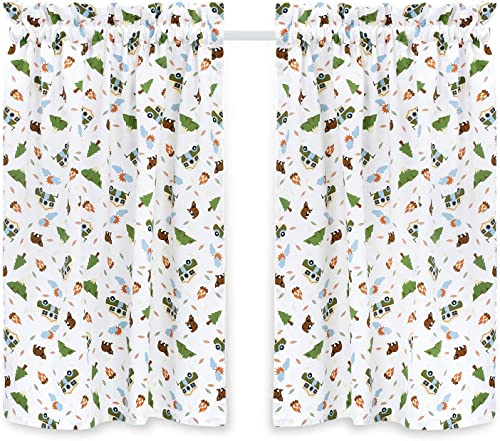 Cackleberry Home Camping Adventures Cafe Curtains 28 Inches W x 36 Inches L, Set of 2