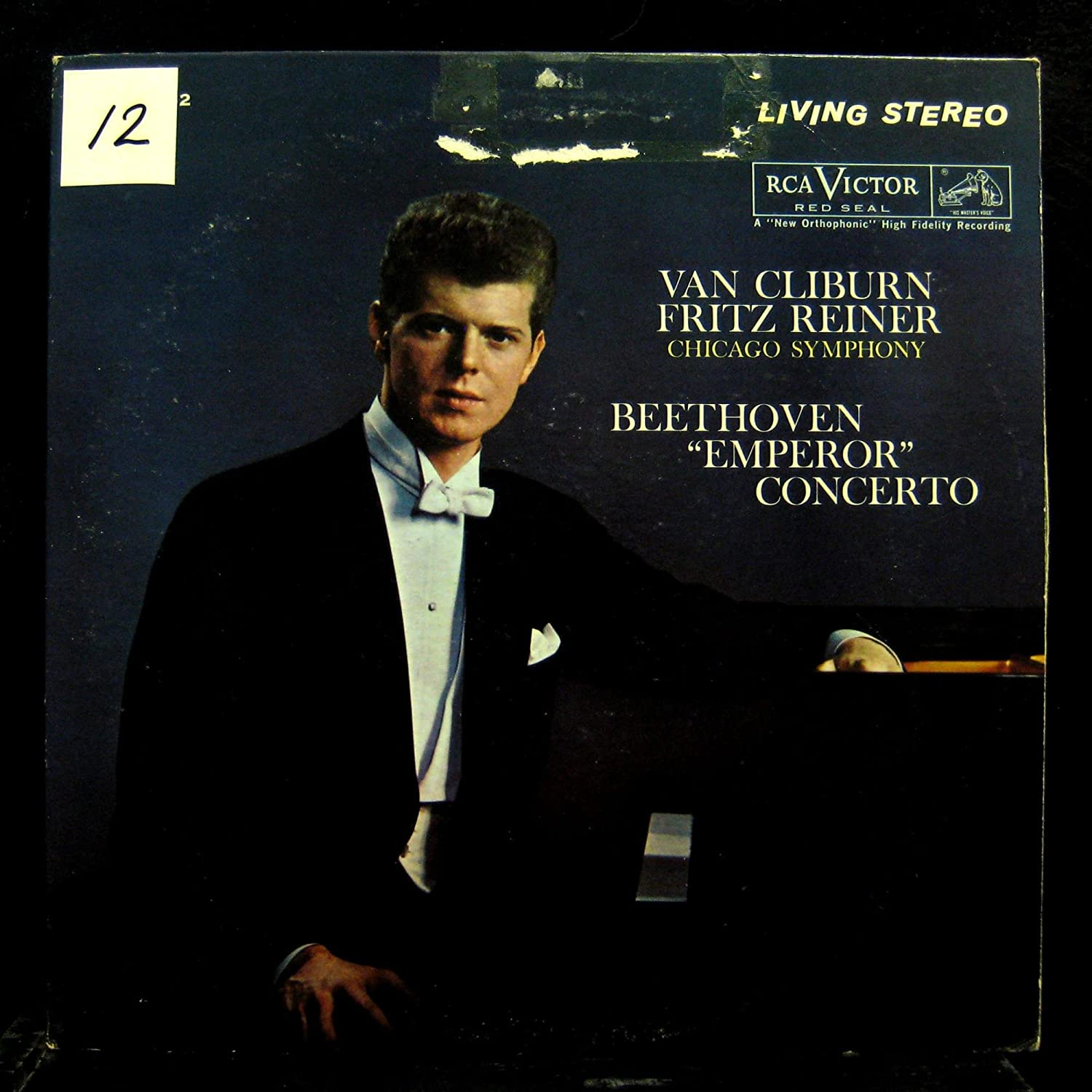 VAN CLIBURN beethoven piano concerto 5 emperor LP Used_VeryGood LSC-2562 Living Stereo SD