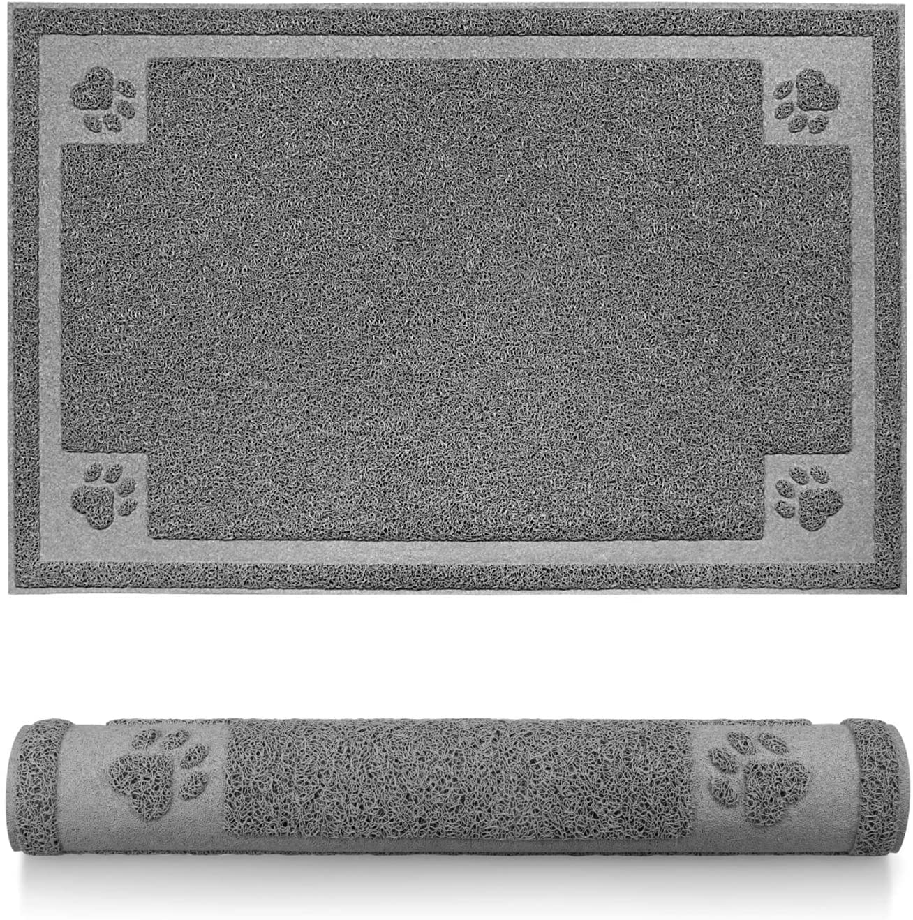 Pet Feeding Mat for Dogs and Cats Flexible and Waterproof Dog Bowl Mat for Food and Water, Easy to Clean Dog Food Mat with Non Slip Backing