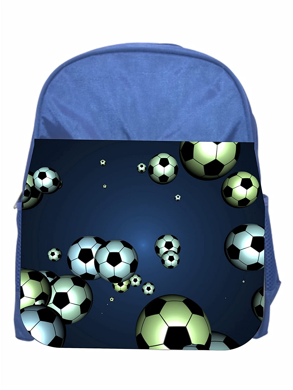 Soccer Balls Girls Blue Preschool Toddler Childrens Backpack /& Lunch Box Set