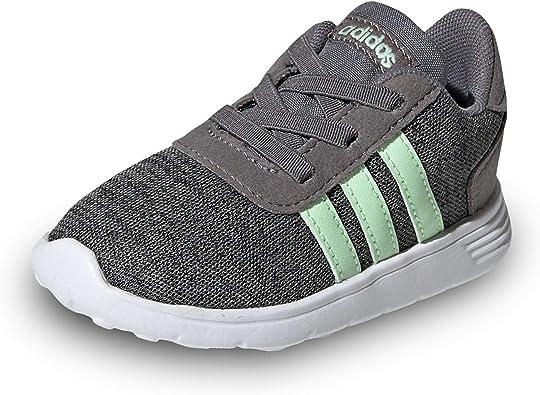 Adidas - Zapatillas niños Gris Lite Racer Inf - Gris, 22: Amazon.es: Zapatos y complementos