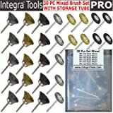 Integra; RT- 30MBS 30PC Brass Steel Nylon Mixed Bristle Cup and Wheel Brushes; Accessories For Rotary Tools