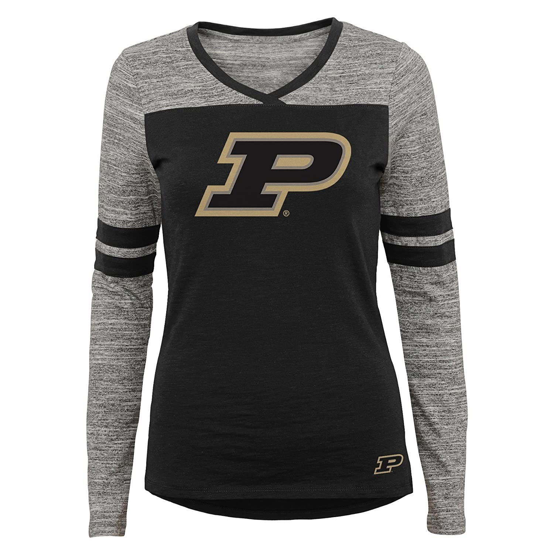Medium NCAA Purdue Boilermakers Juniors Outerstuff Secret Fan Long Sleeve Football Tee Team Color 7-9