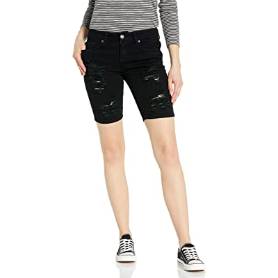 Cover Girl Women's Jeans Juniors Denim Shorts Booty Bermuda Capri Mid Rise Basic Or Ripped at Women's Clothing store