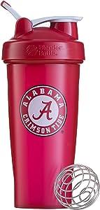 BlenderBottle Collegiate Classic 28-Ounce Shaker Bottle, University of Alabama Crimson Tide - Red/White