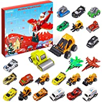 Ezzmo Christmas Advent Calendar 2020 Countdown Calendar, 24 Different Car Toys Set with City Map, 24 Days Countdown…