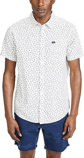 RVCA Hombre M520TRBF Manga Corta Camisa de Botones: Amazon.es: Ropa y accesorios