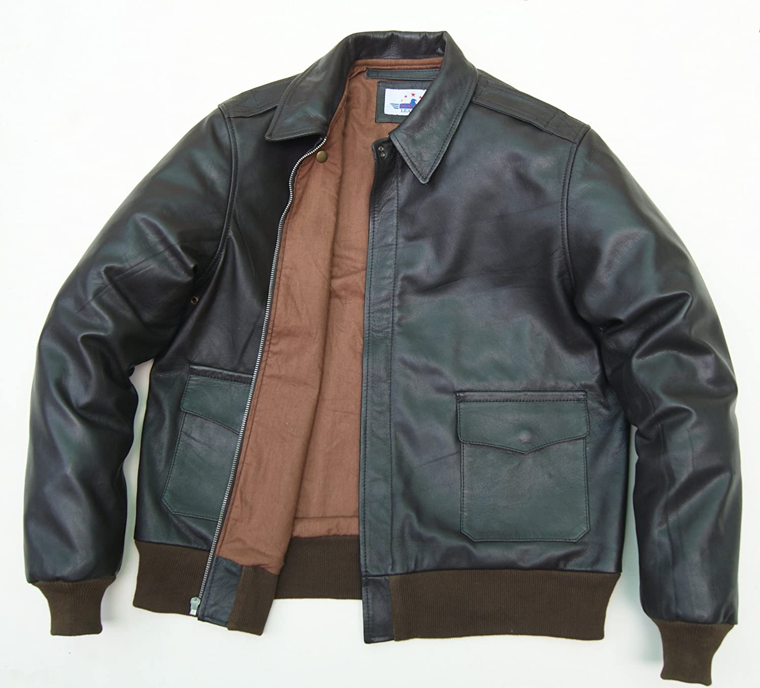 MEN A2 Real GOAT LEATHER JACKET AIRFORCE US PILOTS FLIGHT BOMBER WWII