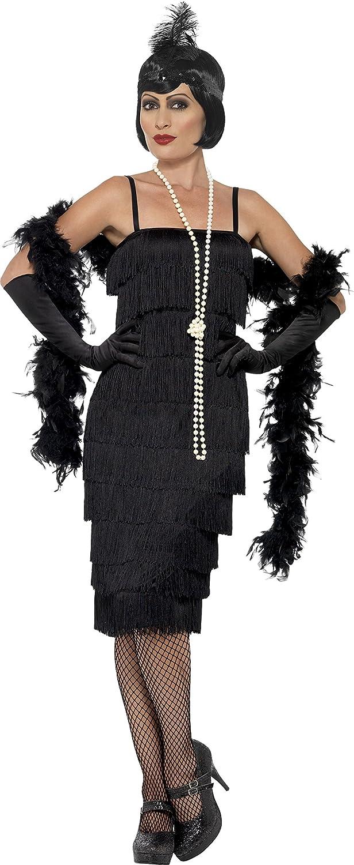 chic Smiffys Déguisement Femme, Danseuse de Charleston, avec robe longue,  bandeau et gants c5df04de96d