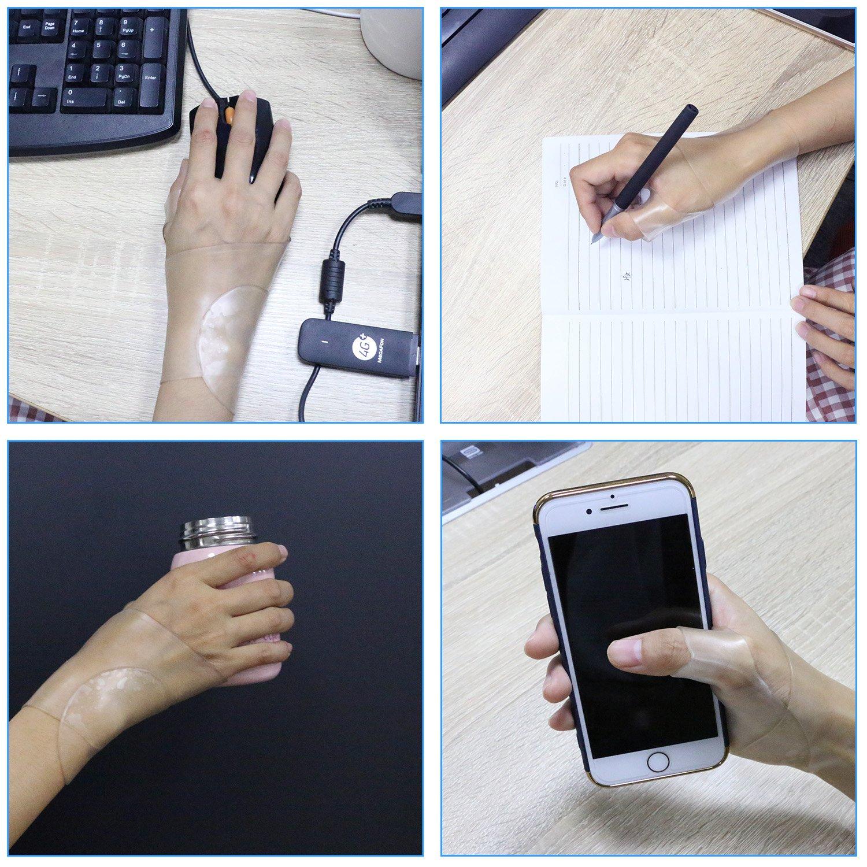 Wrist Brace Carpal Tunnel Gel Wrist Thumb Support Braces Stretchable Washable Thumb Wrist Support Glove for Tenosynovitis, Typing, Wrist Thumb Pain, Arthritis, Rheumatism (1 Pair) by Healthy Harbor (Image #5)